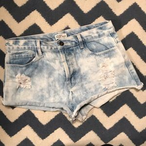 Forever 21 Premium Denim Distressed Shorts